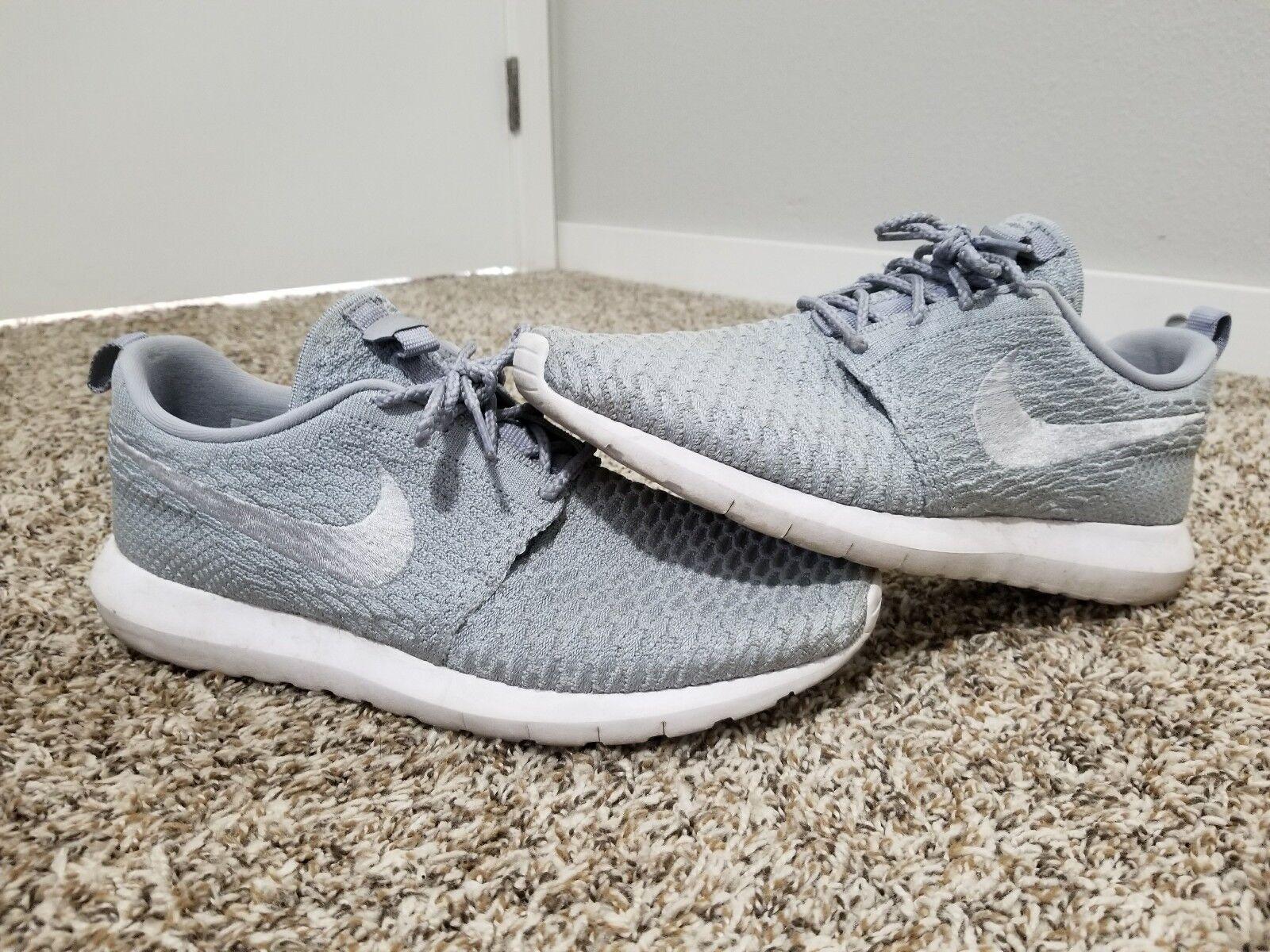Nike roshe correre flyknit lupo grigio autentica dimensione