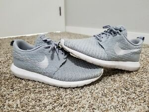 huge discount 2fd80 02820 Image is loading Nike-Roshe-Run-Flyknit-size-10-5-Wolf-