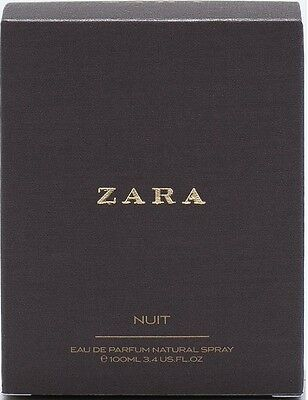 ZARA NUIT FOR WOMAN EAU DE PARFUM EDP FRAGRANCE/ PERFUME 100ML New BOXED