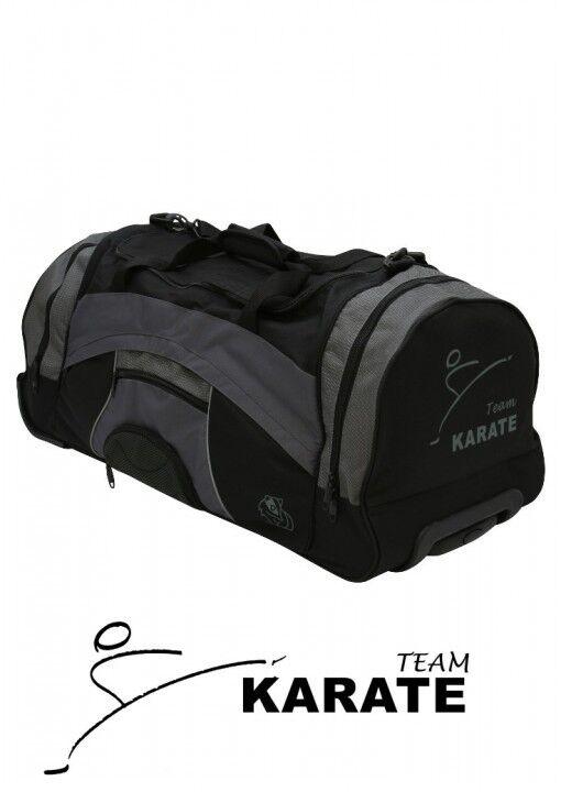 Dax Sports-bolsa Wheeler karate, negro gris. Kickboxing, MMA. Budo. bolso deportivo