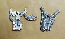 Warhammer 40k Ork Nob Backpack and Glyph - Metal - Stripped
