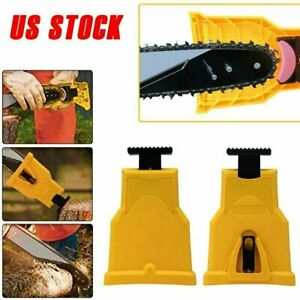 "Chainsaw Teeth Sharpener Bar-Mount Sharpening Unit 14-20/"" Saw Chain Woodworking"