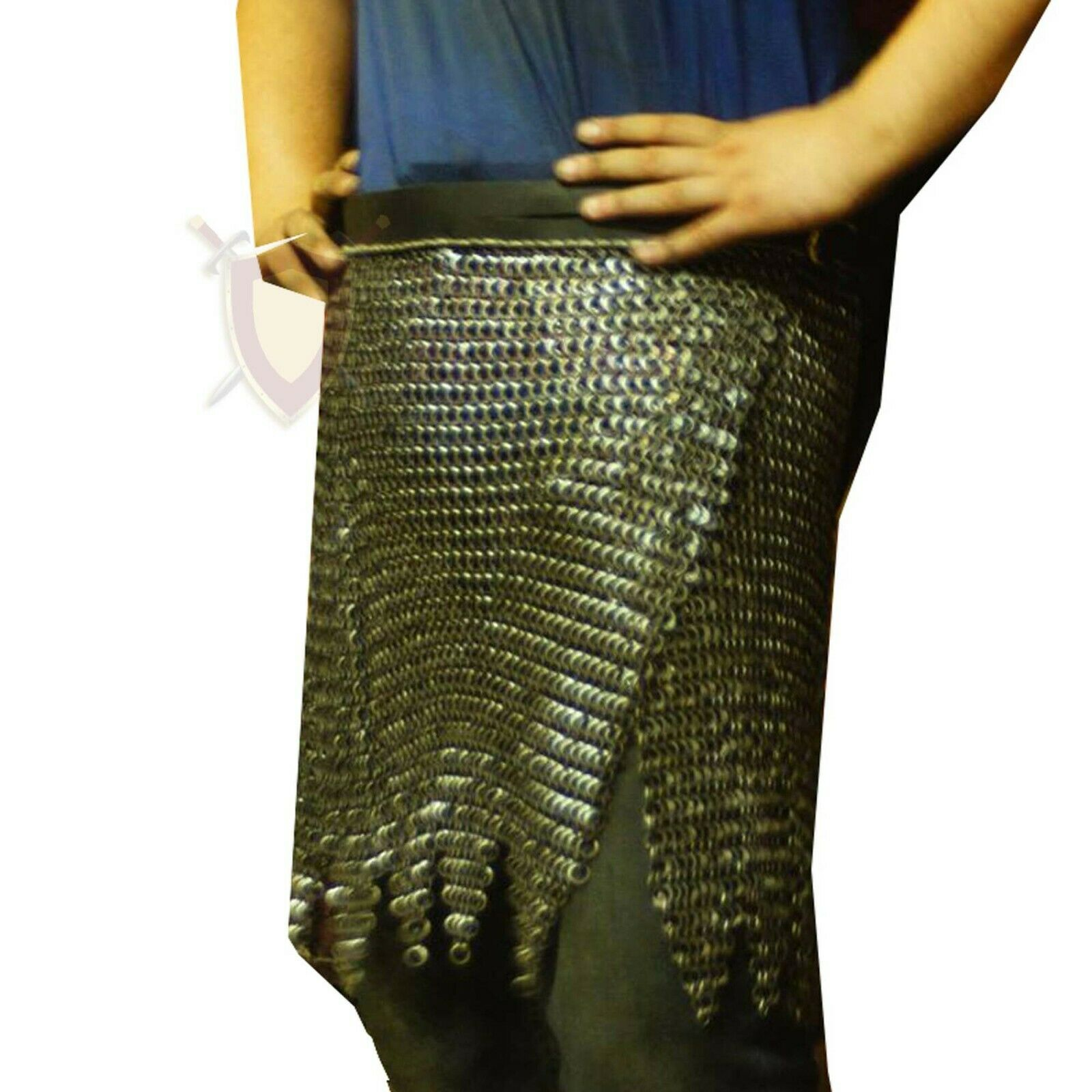 THE MEDIEVALS Chain Mail Zig-Zag SKIRT 09 MM ID MS Flat Riveted Armor SCA LARP