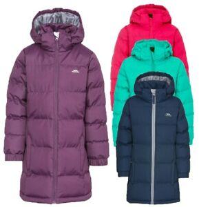Détails sur Rrp £ 45!! trespass filles veste matelassée manteau à capuche zip off school wear ttfy afficher le titre d'origine