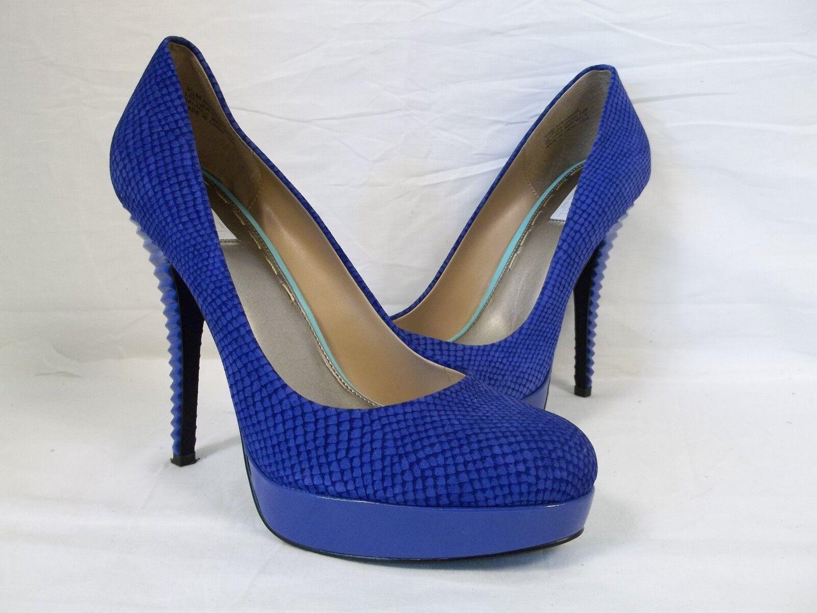 Rachel Roy Taille 9.5 M Kamaria Bleu Foncé En Cuir Talons Hauts Femme Chaussures Neuf Sans Boîte
