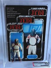 VINTAGE STAR WARS ROTJ TRILOGO KLAATU SKIFF GUARD AFA 80 (80/80/85) MOC UP TRI