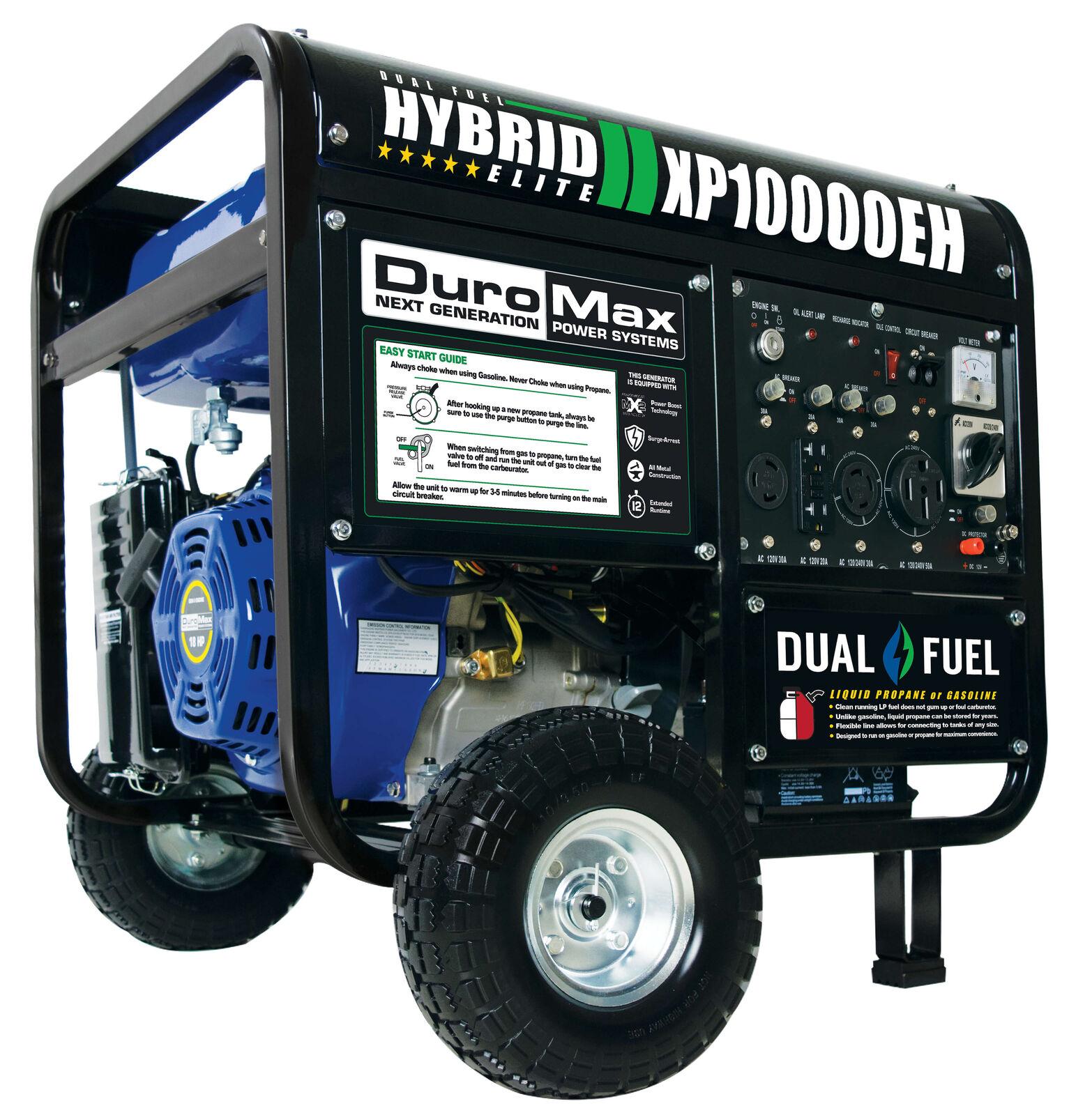 DuroMax 10,000 Watt Hybrid Dua...