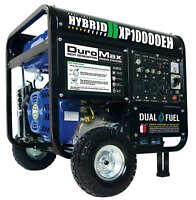 DuroMax 10000 Watt Hybrid Dual Fuel Portable Gas Propane Generator Deals