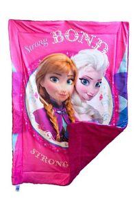 Disney Frozen Anna Elsa Sherpa Borrego Crib Blanket Baby Toddler Bedding Throw