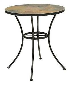 Tremendous 4D Concepts Round Bistro Table With Slate Top For Sale Alphanode Cool Chair Designs And Ideas Alphanodeonline