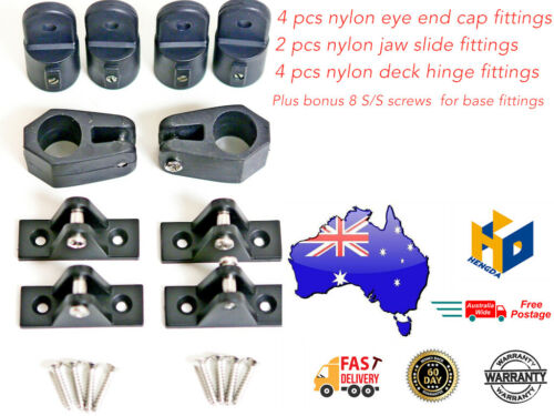 "Bimini canopy fittings 10 pce 7//8/"" Boat free screws HD 0075 //10"