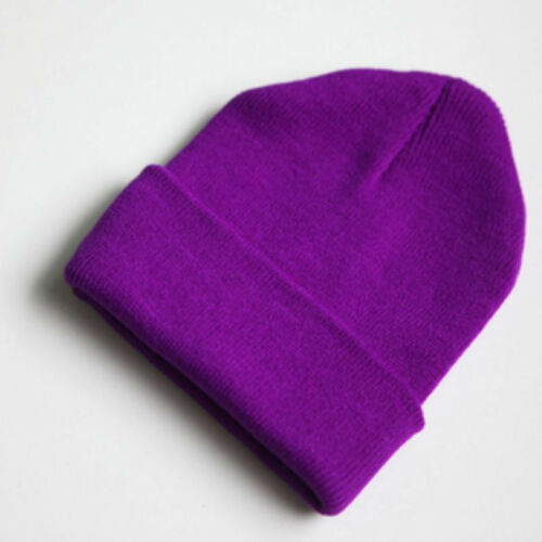 9 Colors Warm Women Men Fancy Acrylic Knit Wrap Ski Beanie Cuff Hats Caps