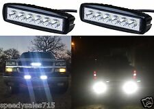"""PAIR 6"""" 18W LED Bumper Reverse Lights Spot Flood Work Offroad New Free Shipping"""