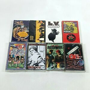 Lot-8-Cassette-Tapes-90s-Rap-Hip-Hop-Stone-Age-Total-Devastation-Mase-Original-P