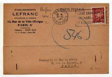 A4786) FRANCE 1942 PC Paris Local Perfin