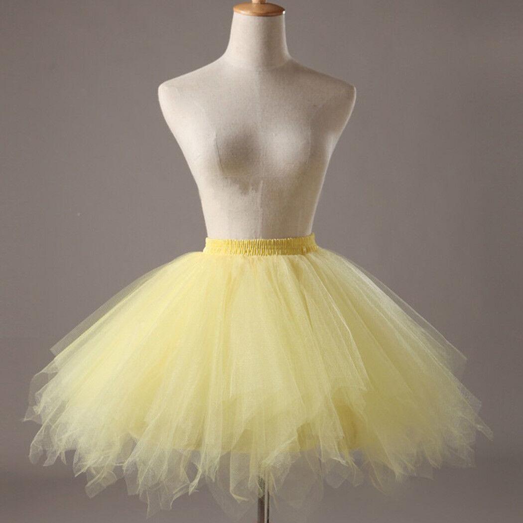 Hot Women Adult Lady Tutu Tulle Skirt Fancy Skirt Dress Up Party Dancing Dress 7