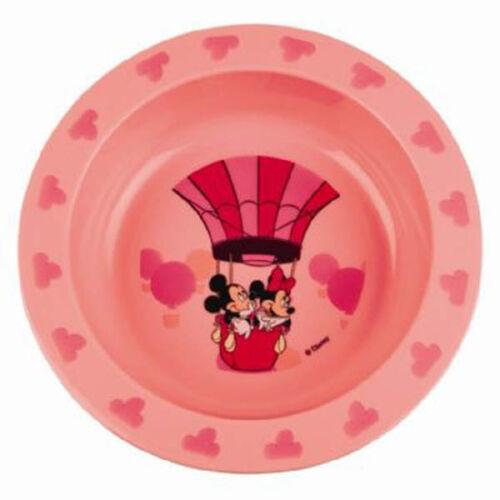 Disney Feeding Plate Baby Din Dins Plastic Blue Pink Kids Fun Dinner Time Gift