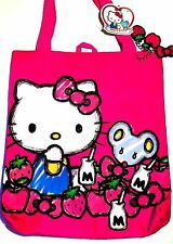 Hello Kitty Tote Bag Mouse Joey Milk Bottle Strawberry Apple Bag Purse w Charms