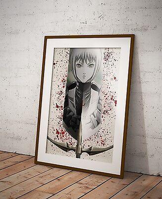 Claymore Anime Poster Watercolor Wall Art Otaku Print Anime Poster Gift  R2