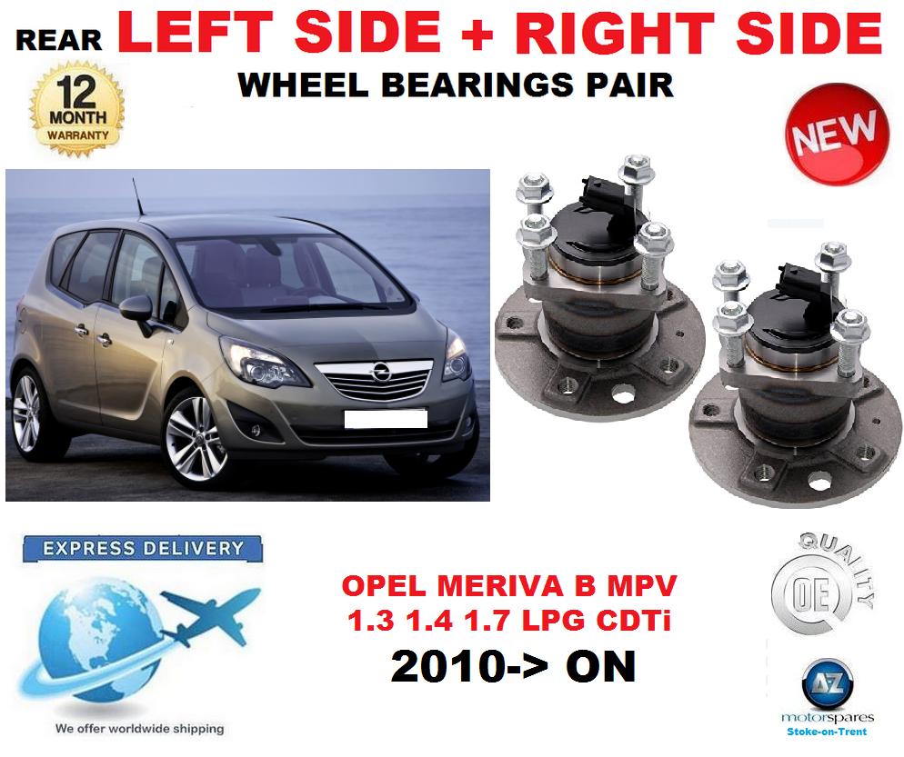 Für Opel Meriva B Hinten Rad Kugellager Paar 2010-   nach MPV Links + Rechte