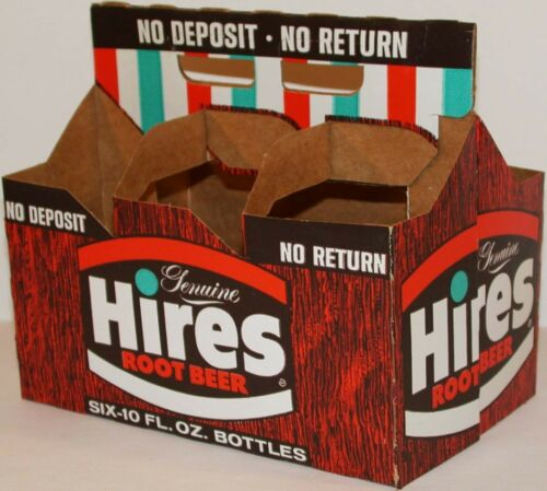 Vintage soda pop bottle carton HIRES ROOT BEER Genuine NDNR unused new old stock