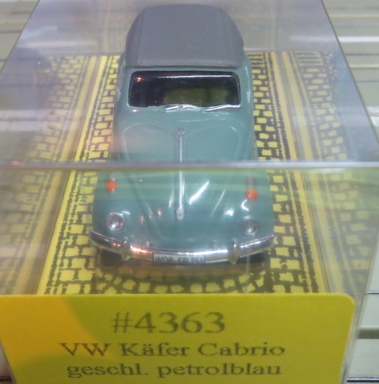 Per H0 Slotcar Racing Modellismo Ferroviario Bauer VW Maggiolino Cabrio