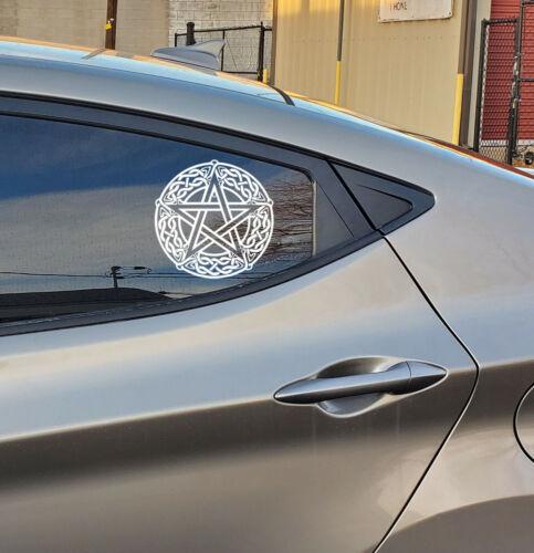 PENTAGRAM CELTIC KNOT WICCA DRUID PAGAN Vinyl Decal Car Wall Sticker