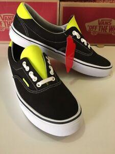 945108a67e99f7 Vans Era 59 Black Neon Leather Men s Shoes Size 9 190287939763