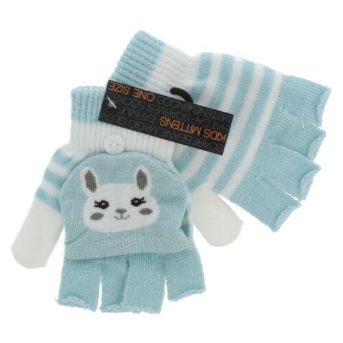 Girls GL903 One Size Glitter  Fingerless Gloves With Mitten Cap By RJM £1.99