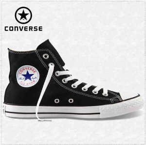 Converse-M9160C-Nere-Alte-Black-High-Optic-White-Tela-Classic-All-Star-ox-unisex