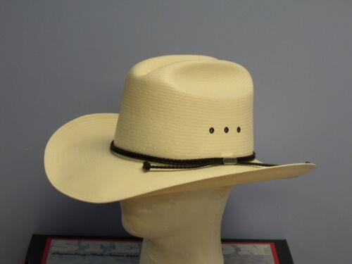 STETSON CARSON 10X SHANTUNG PANAMA STRAW COWBOY WESTERN HAT
