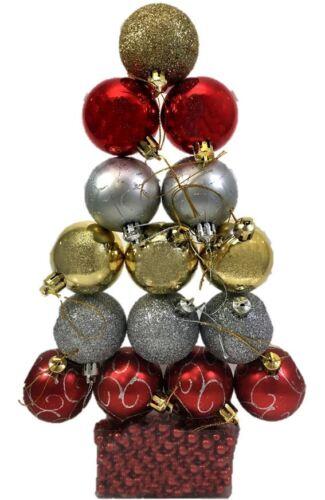 16pcs Tree Decoration Traditional Christmas Festive Tree Hanging Xmas Ornament