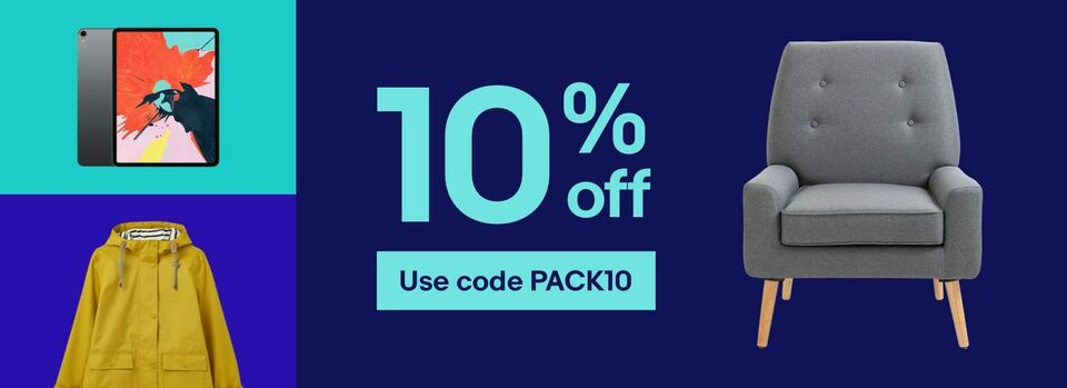 Use code PACK10 - Your 10% off coupon is here