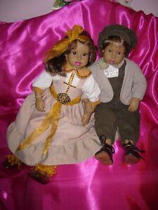 Lot-2 poupée-poupée-vinyle-petits-amis-mariage-frères-valentin-couple