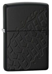 Zippo-Tire-Tread-Black-Matte-Windproof-Pocket-Lighter-28966