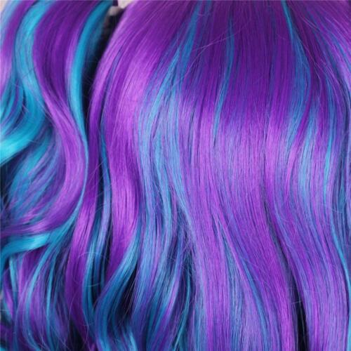 ColorGround Long Curly Cosplay Wig with 2 Ponytails Rainbow Color