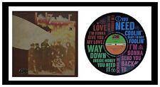 LED ZEPPELIN MEMORABILIA Whole Lotta Love VINYL RECORD ART - with Sleeve - Gift