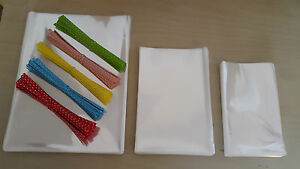 CELLOPHANE CLEAR CELLO DISPLAY PARTY BAGS FOR LOLLIPOPS SWEETS - *FOOD SAFE*