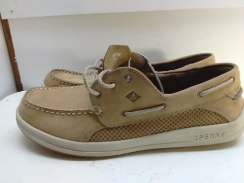 Sperry Top-Sider Tan Leather 3-Eyelet Boat Deck Ca