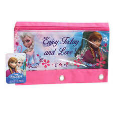 Disney Frozen Elsa & Anna 3-Ring Pencil Pouch Bag School Supplies for Notebook