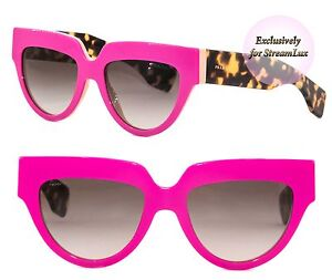 bccde515dc30 PRADA POEME Sunglasses SPR 29P SL1-0A7 Women Cat Eye Neon Pink ...
