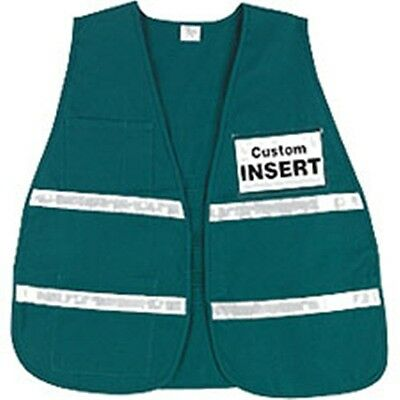 Incident Command Safety Vests - Green with Silver Stripes