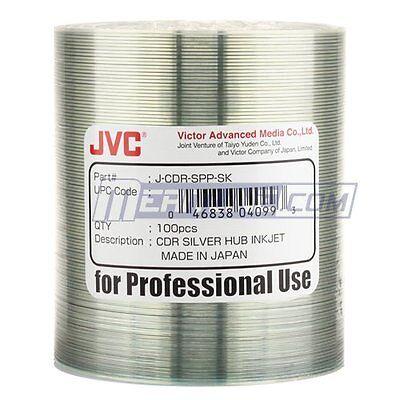 TAIYO YUDEN TY CD-R 52X SILVER INKJET HUB PRINTABLE J-CDR-SPP-SK 600 PCS