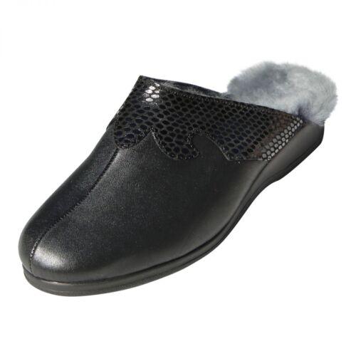 Pantofole Nero Merino Le Pelo Agnello In Pelle Di Coccodrillo Biekamp Signore awgqAaxr1