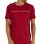 TOMMY-HILFIER-Camiseta-para-hombre-manga-corta-roja-ruibarbo-M-L-XL miniatura 1