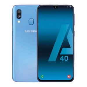 SAMSUNG-GALAXY-A40-64GB-4GB-RAM-SMARTPHONE-TELEFONO-MOVIL-LIBRE-AZUL-4G-A405