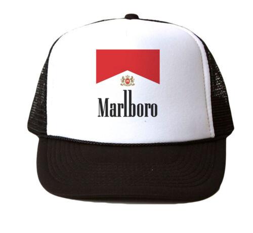 Marlboro Ciggs Mesh Trucker Hat Cap Snapback Adjustable Brand New-Black