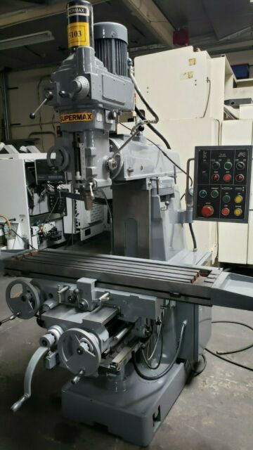 All Types Of New Milling Machines And Used Milling Machines For Sale >> Supermax Ycm 2vas Heavy Duty Box Way Vertical Mill Milling Machine W Dro Nice