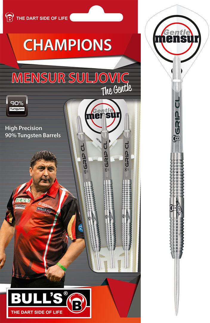 Bull's Dart - Champions    Herrenur Suljovic 25g (Steel Dart) 3 Dartpfeile NEU 5c7132