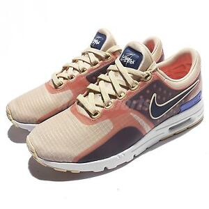 Wmns Nike Air Max Zero SI Oatmeal Binary Blue Women Running Shoes 881173-101